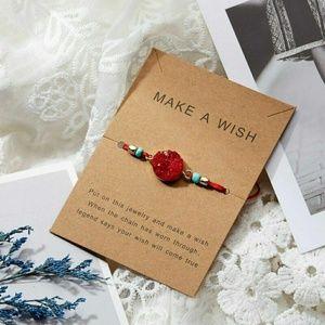 Red Wish Bracelet, Make A Wish Bracelet